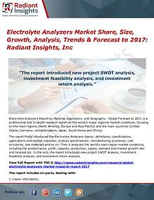 Electrolyte Analyzers Market Share, Size, Growth, Analysis 2017