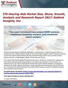 ITE Hearing Aids Market Size, Share, Growth, Analysis 2017