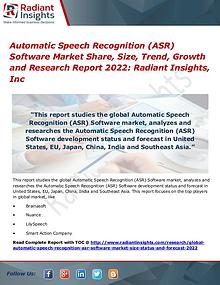 Automatic Speech Recognition (ASR) Software Market Share, Size 2022