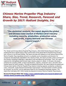 Chinese Marine Propeller Plug Industry Share, Size, Trend 2017