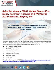 Salus Per Aquam (SPA) Market Share, Size, Trend, Research 2017
