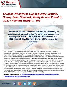 Chinese Menstrual Cup Industry Growth, Share, Size, Forecast 2017