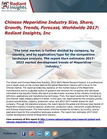 Chinese Meperidine Industry Size, Share, Growth, Trends 2017