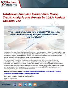 Intubation Cannulae Market Size, Share, Trend, Analysis 2017