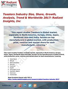 Toasters Industry Size, Share, Growth, Analysis, Trend 2017
