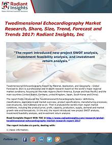 Twodimensional Echocardiography Market Research, Share, Size 2017