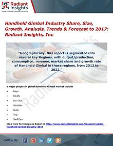Handheld Gimbal Industry Share, Size, Growth, Analysis, Trends 2017