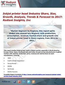 Inkjet printer head Industry Share, Size, Growth, Analysis 2017