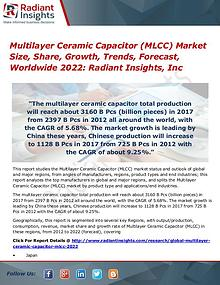 Multilayer Ceramic Capacitor (MLCC) Market Size, Share, Growth 2022
