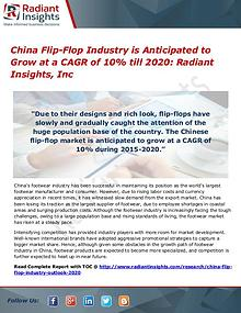 China Flip-Flop Industry is Anticipated to Grow at a CAGR of 10%