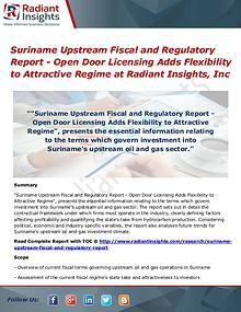 Suriname Upstream Fiscal and Regulatory Report