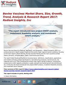 Bovine Vaccines Market Share, Size, Growth, Trend, Analysis 2017