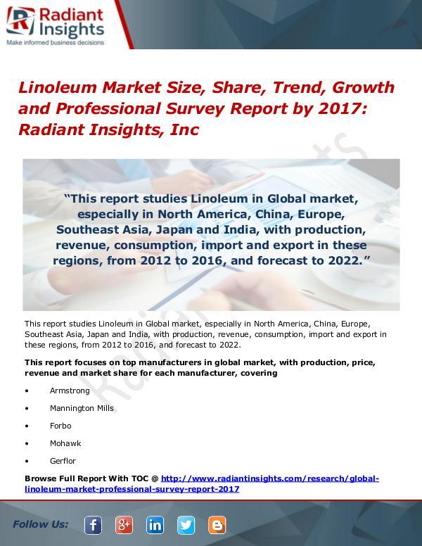 Linoleum Market Size, Share, Trend, Growth 2017 Linoleum Market Size, Share, Trend, Growth 2017