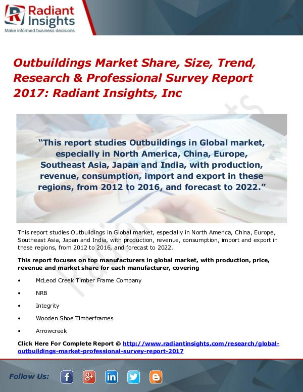 Outbuildings Market Share, Size, Trend, Research 2017 Outbuildings Market Share, Size, Trend 2017