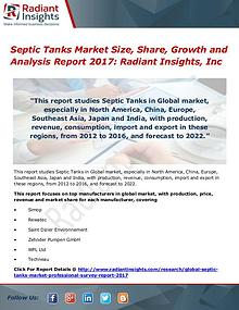 Septic Tanks Market Size, Share, Growth and Analysis Report 2017