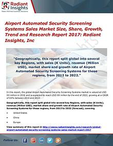 Airport Automated Security Screening Systems Sales Market Size 2017