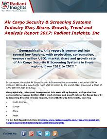 Air Cargo Security & Screening Systems Industry Size, Share 2017