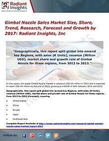 Gimbal Nozzle Sales Market Size, Share, Trend, Research, Forecast2017