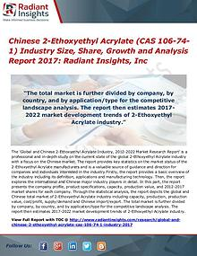 Chinese 2-Ethoxyethyl Acrylate (CAS 106-74-1) Industry Size 2017