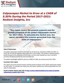 Colposcopes Market to Grow at a CAGR of 5.50% During the Period 2021
