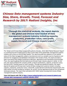 Chinese Data management systems Industry Size, Share, Growth 2017