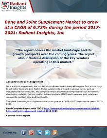 Bone and Joint Supplement Market to grow at a CAGR of 6.72%
