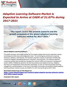 Adaptive Learning Software Market 2017 to 2021
