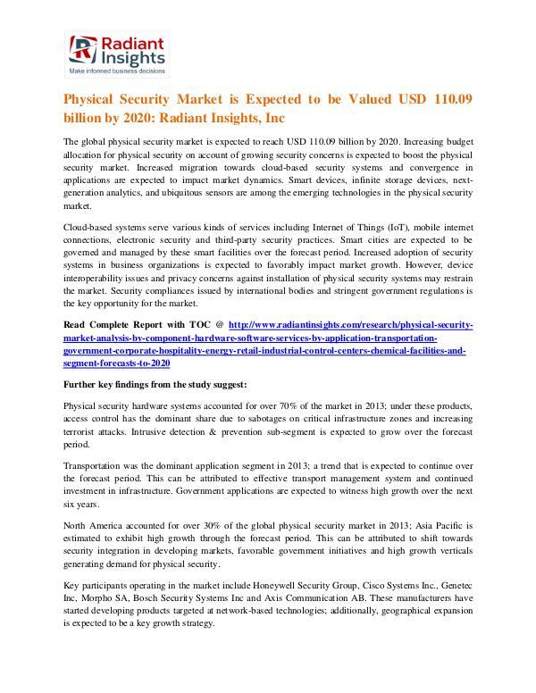 Physical Security Market 2020 Physical Security Market