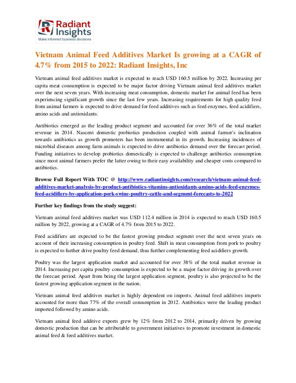 Vietnam Animal Feed Additives Market 2022 Vietnam Animal Feed Additives Market 2022