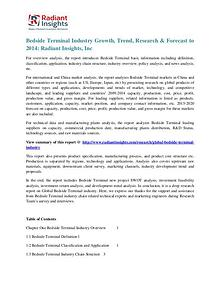 Bedside Terminal Industry Growth, Trend, Research & Forecast to 2014