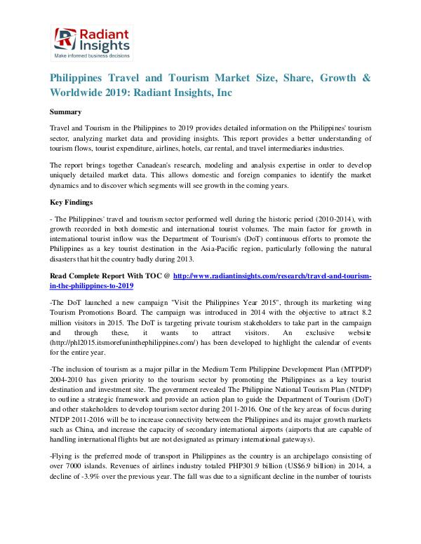 Philippines Travel and Tourism Market Size, Share, Growth