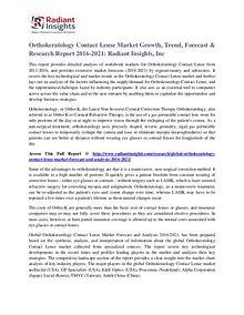Orthokeratology Contact Lense Market Growth, Trend, Forecast 2021