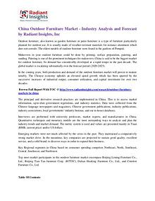 China Outdoor Furniture Market