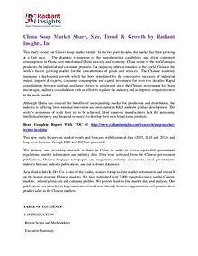 China Soap Market Share, Size, Trend & Growth by Radiant Insights