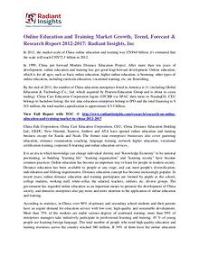 Online Education and Training Market Growth, Trend, Forecast 2017