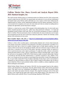 Caffeine Market Size, Share, Growth and Analysis Report 2016-2021