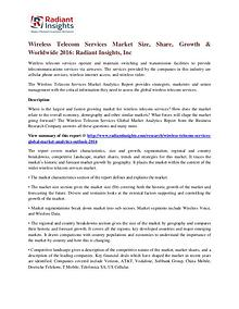Wireless Telecom Services Market Size, Share, Growth & Worldwide 2016