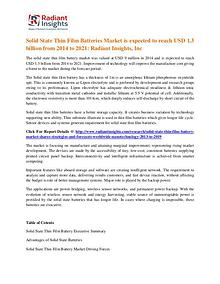 Solid State Thin Film Batteries Market 2022
