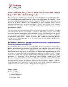 Data Acquisition (DAQ) Market Share, Size, Growth 2021