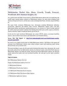 Methylamine Market Size, Share, Growth, Trends, Forecast, 2015