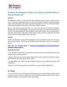 Wealth in the Philippines Market Latest Report Available Online