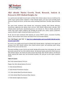 Allyl Chloride Market Growth, Trend, Research, Analysis 2015