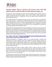Cleaning Robots Market Valuation Will Increase From USD 980 Million