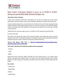 Data Center Colocation Market to Grow at a CAGR of 12.36%