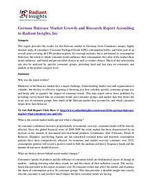German Haircare Market Growth and Research Report