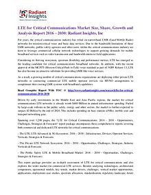 LTE for Critical Communications Market Size, Share, Growth 2030