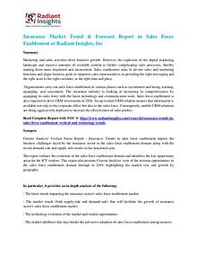 Insurance Market Trend & Forecast Report in Sales Force Enablement