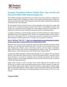 Language Translation Software Market Share, Size, Growth 2020