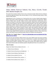 China Athletic Footwear Industry Size, Share, Growth, Trends 2014