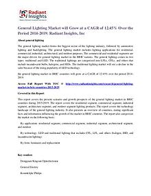 General Lighting Market Will Grow at a CAGR of 12.45% Over the Period